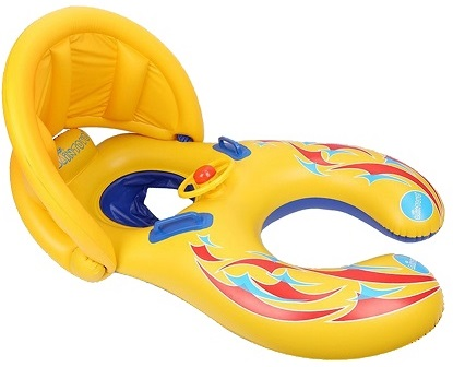 4. Punada Baby Pool Float with Canopy