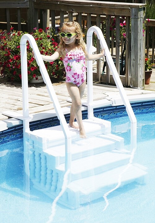 5. Above Ground Swimming Pool Step to Deck