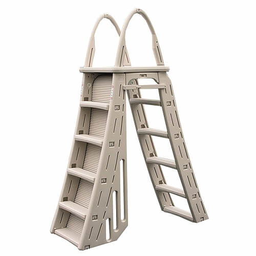 4. Confer Heavy Duty A-Frame Above-Ground Pool Ladder