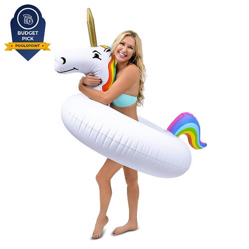 3. GoFloats Unicorn Party Tube Inflatable Float