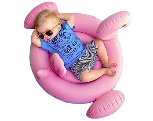 5. Oima Baby Flamingo Inflatable Pool Float