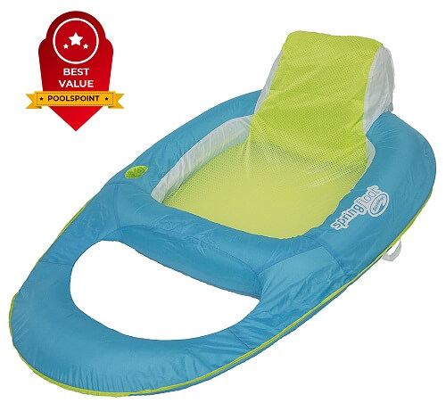 2. SwimWays Spring Float Recliner Pool Lounger