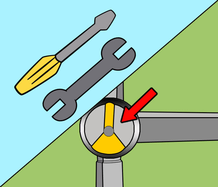 adjust the diverter valve