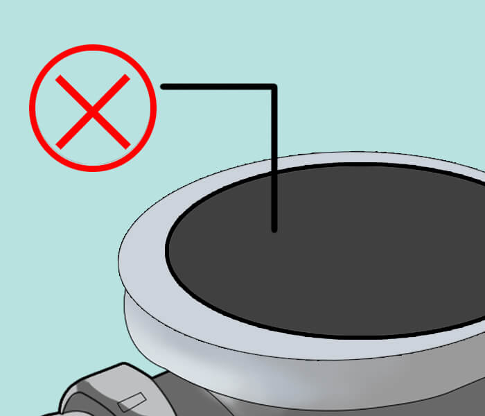 replace the strainer box lid