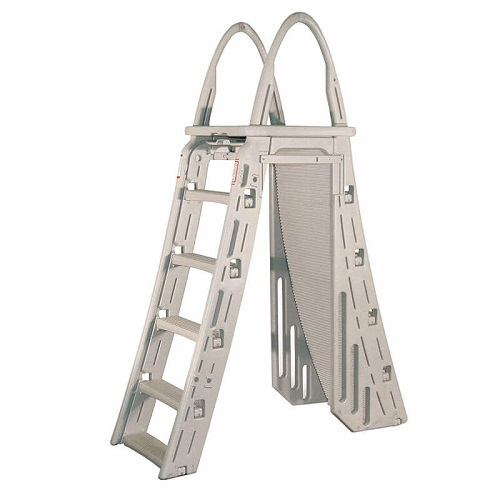 Safety above ground pool ladder