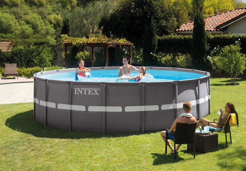intex 18ft x 52in ultra frame pool set